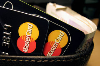 FILE PHOTO: MasterCard credit cards are seen in this illustrative photograph