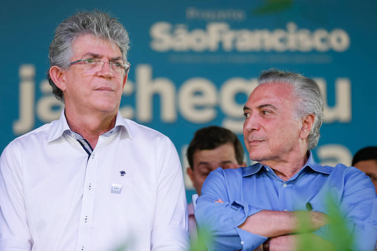 Ricardo Coutinho ao lado de Michel Temer