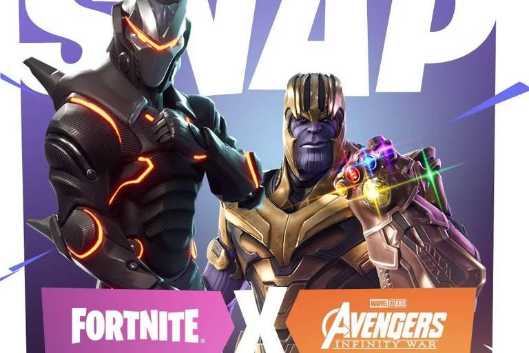 Thanos, vilão de 'Vingadores: Guerra Infinita', aparecerá no jogo Fortnite