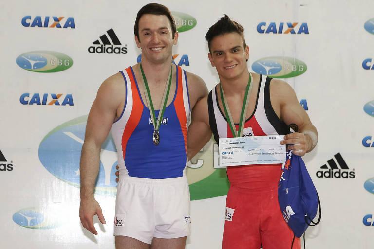 Diego Hypólito e Caio Souza