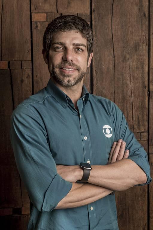 Juninho Pernambucano quando atuava como comentarista esportivo da Globo