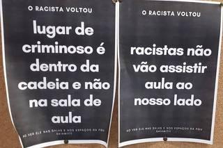 Acusado de racismo é alvo de protesto em retorno às aulas na FGV após liminar
