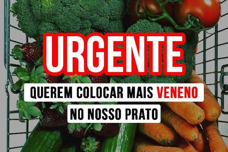 Campanha contra mudança na lei de agrotóxicos