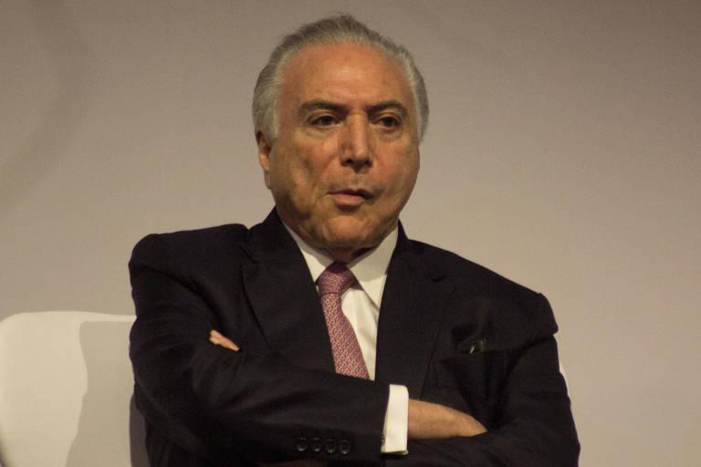 Presidente Michel Temer na cerimônia de abertura da APAS Show 2018, em São PauloPreside
