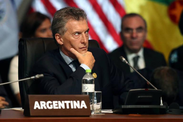 O presidente argentino Mauricio Macri