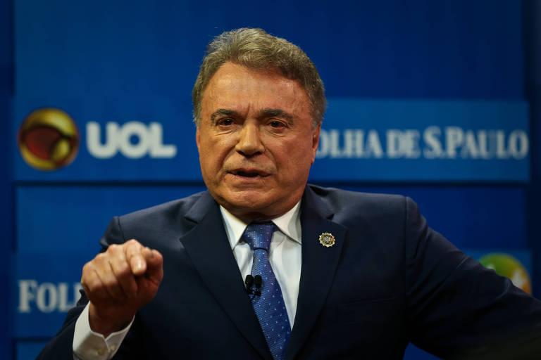 O senador Alvaro Dias, que participou nesta segunda (7) da sabatina Folha, UOL e SBT