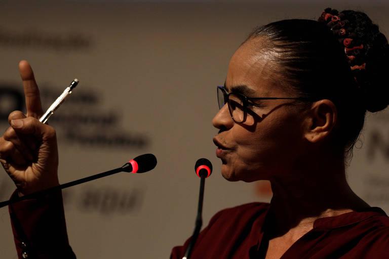A pré-candidata da Rede, Marina Silva, que falou sobre o seu projeto de reforma tributária