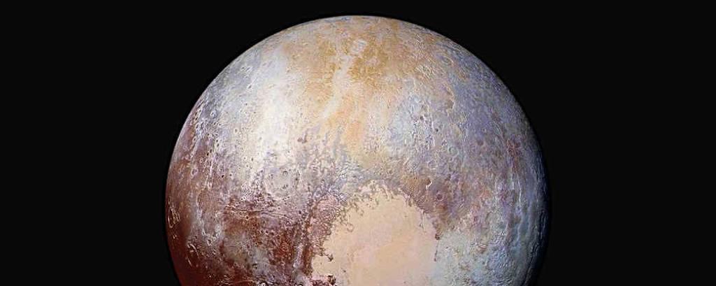 Imagem de Plutão registrada pela Nasa em 24 de julho de 2015, a 450.000 km de distância