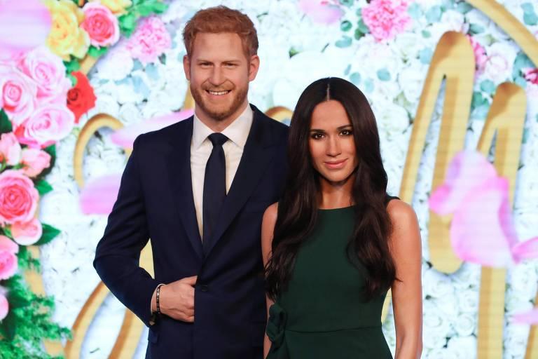 Harry e Meghan no museu de cera britânico
