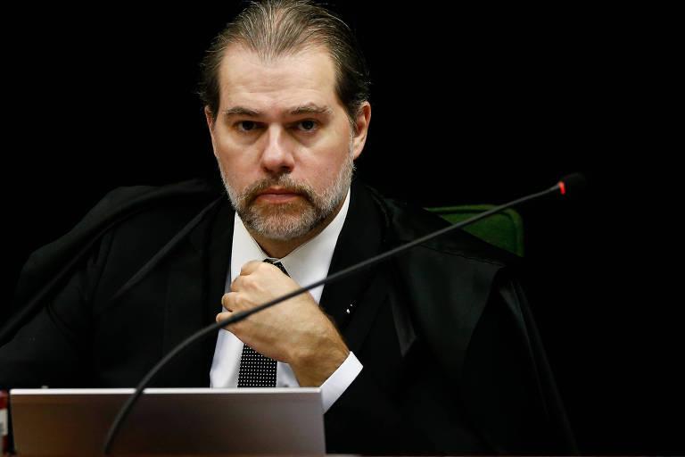 O ministro Dias Toffoli, do Supremo Tribunal Federal, durante sessão na corte