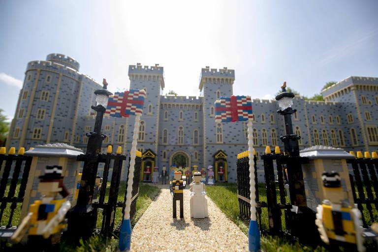 Lego constrói miniatura do casamento real no Castelo de Windsor
