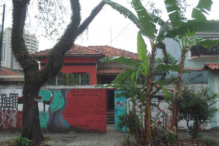 Espaço cultural Casa da Lagartixa Preta Malagueña Salerosa, em Santo André