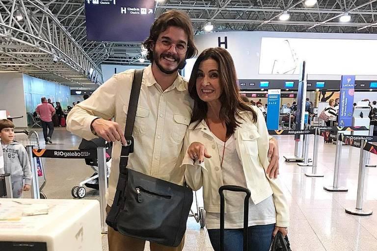 Fátima Bernardes e Túlio Gadêlha fazem primeira viagem internacional juntos
