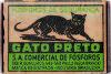Caixa de fósforos Gato Preto, dos anos 1950