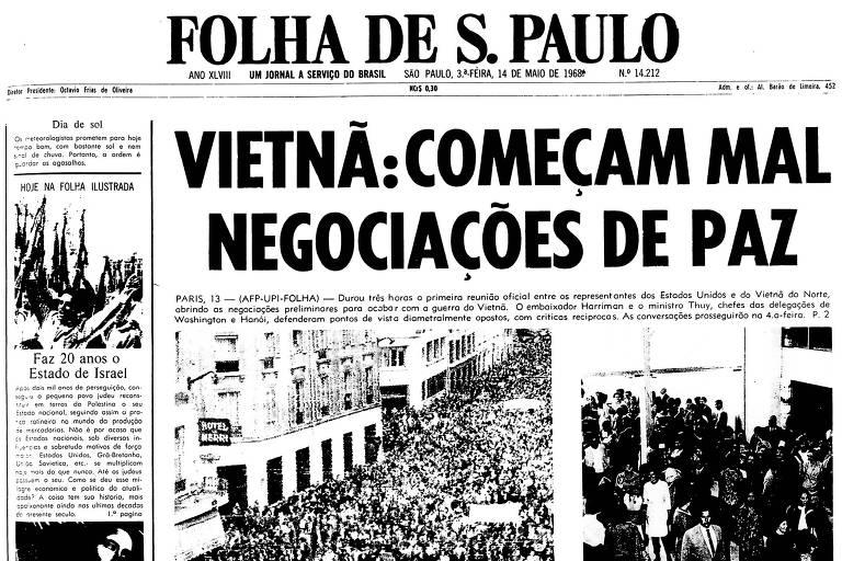 1968: Acordo de paz entre EUA e Vietnã do Norte enfrenta rusga em Paris