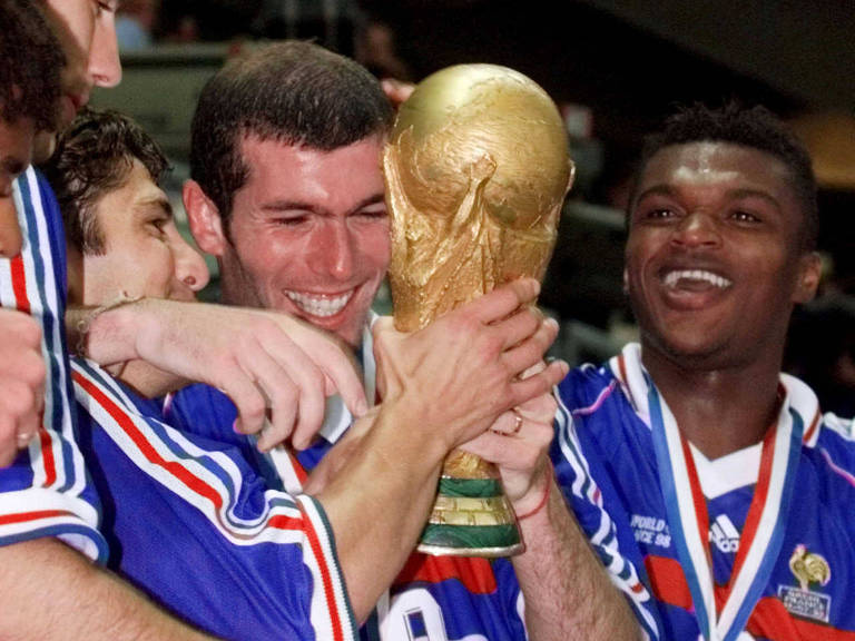 Brasil e França na final da Copa do Mundo de 1998