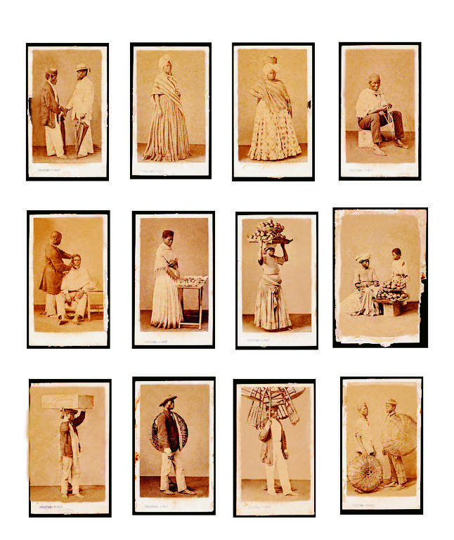 Conjunto de 1865, de Christiano Júnior, representando escravos