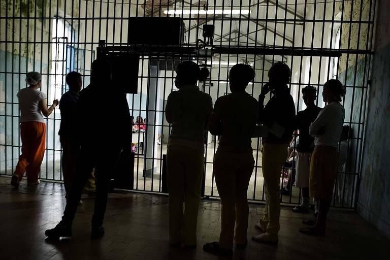 Um dos pavilhões da Penitenciária Feminina do Estado, em São Paulo