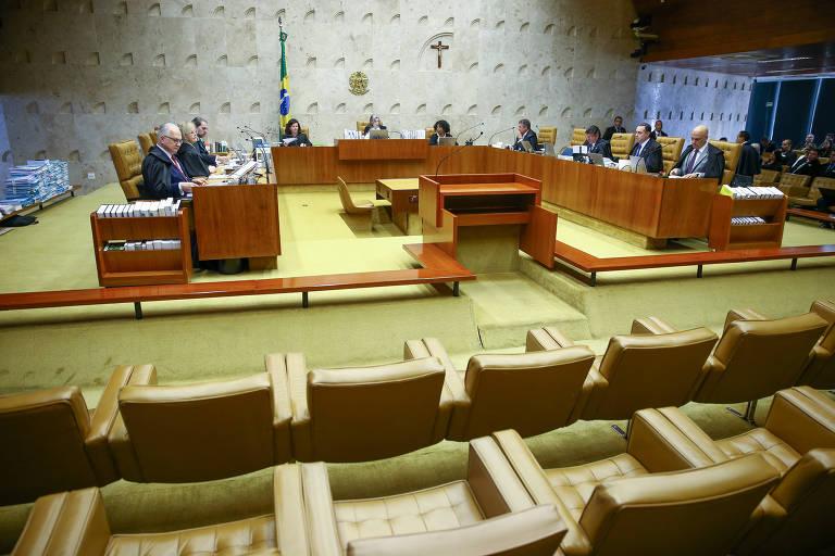 Sessão plenária do STF sobre foro especial