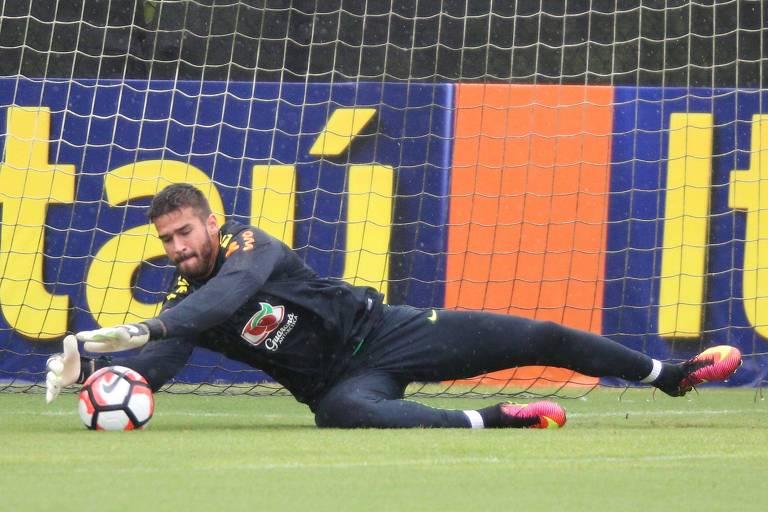 Alisson será o titular no gol da seleção na Rússia