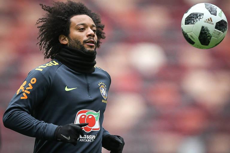 Marcelo é um dos mais experientes da seleção brasileira e também um dos  jogadores com mais 07c377cd76cb0