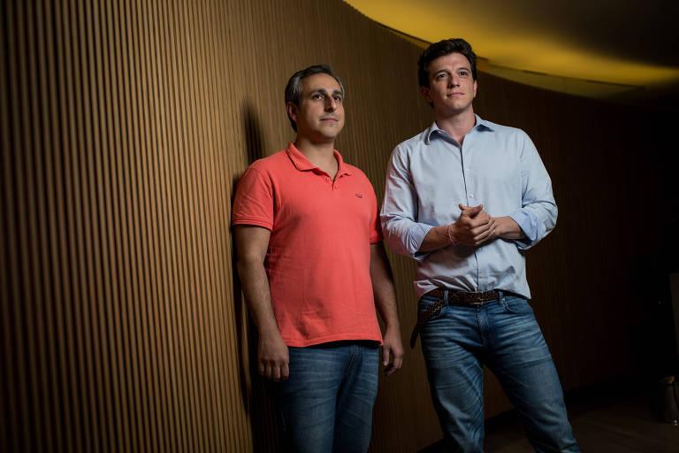 Gustavo Câmara (à dir.), criador da Virtus, e Fabio Colella, diretor de operações