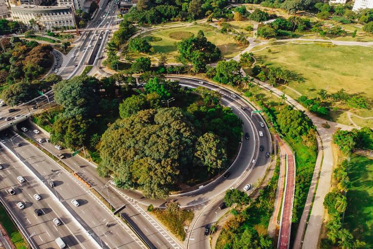 Vista aérea do Parque do Povo