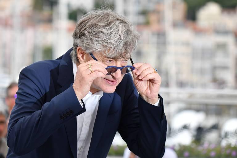 O diretor alemão Wim Wenders no Festival de Cannes