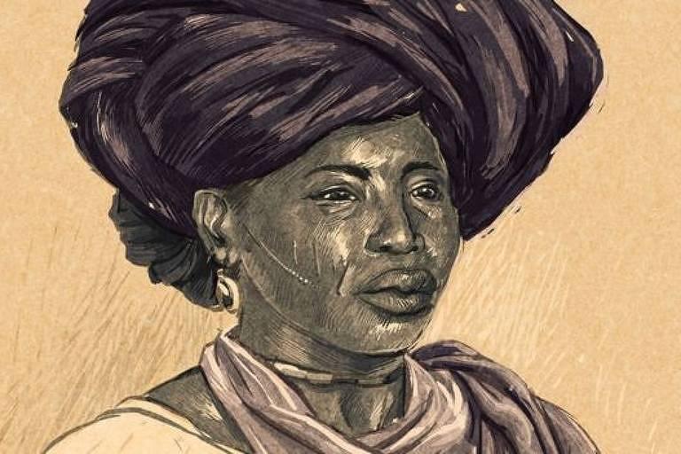 Como não há registros fotográficos de Adelina, a charuteira, ilustração foi baseada em fotografias de escravas minas que viviam no Maranhão na época