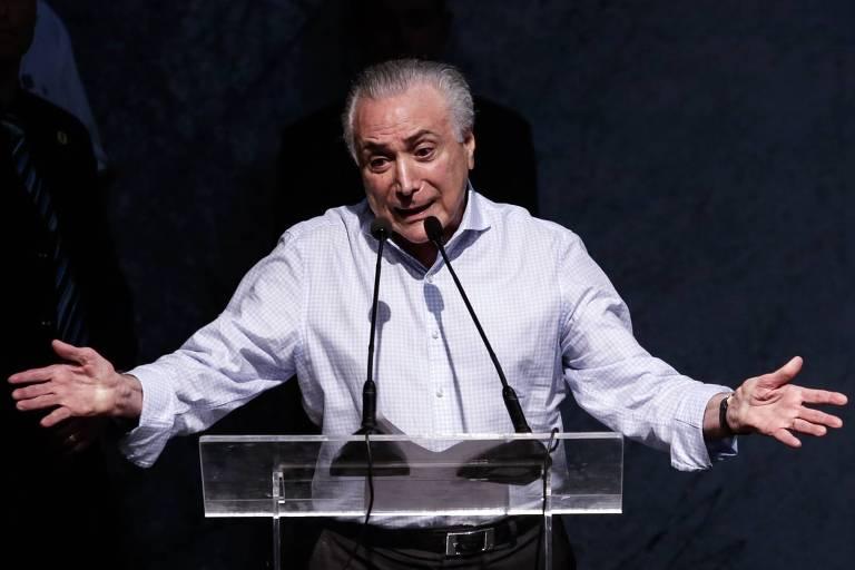 Presidente Michel Temer, que tem pelo menos quatro processos para responder ao deixar o governo