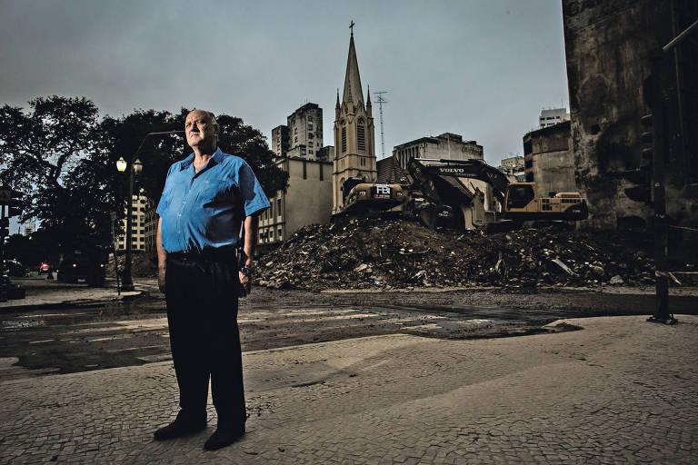 Frederico Carlos Ludwig, 61, que há 20 anos é pastor da Igreja Evangélica Luterana, atingida pela queda do edifício Wilton Paes de Almeida, no centro de São Paulo