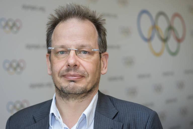 Jornalista alemão Hajo Seppelt, da rede de TV ARD, que teve o visto de entrada na Rússia negado pelo governo por ter denunciado o esquema de doping do país