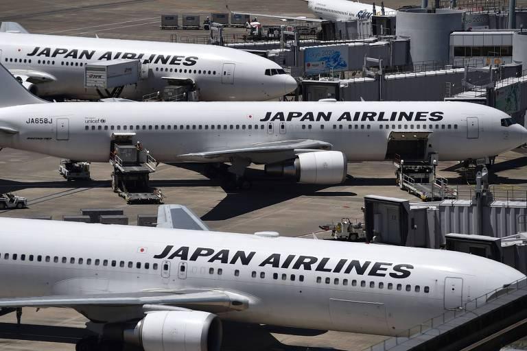 Aviões da Japan Airlines
