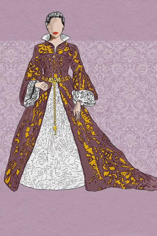 A rainha Maria 1ª da Inglaterra se casou usando roxo em 1554, algo reservado exclusivamente para a realeza