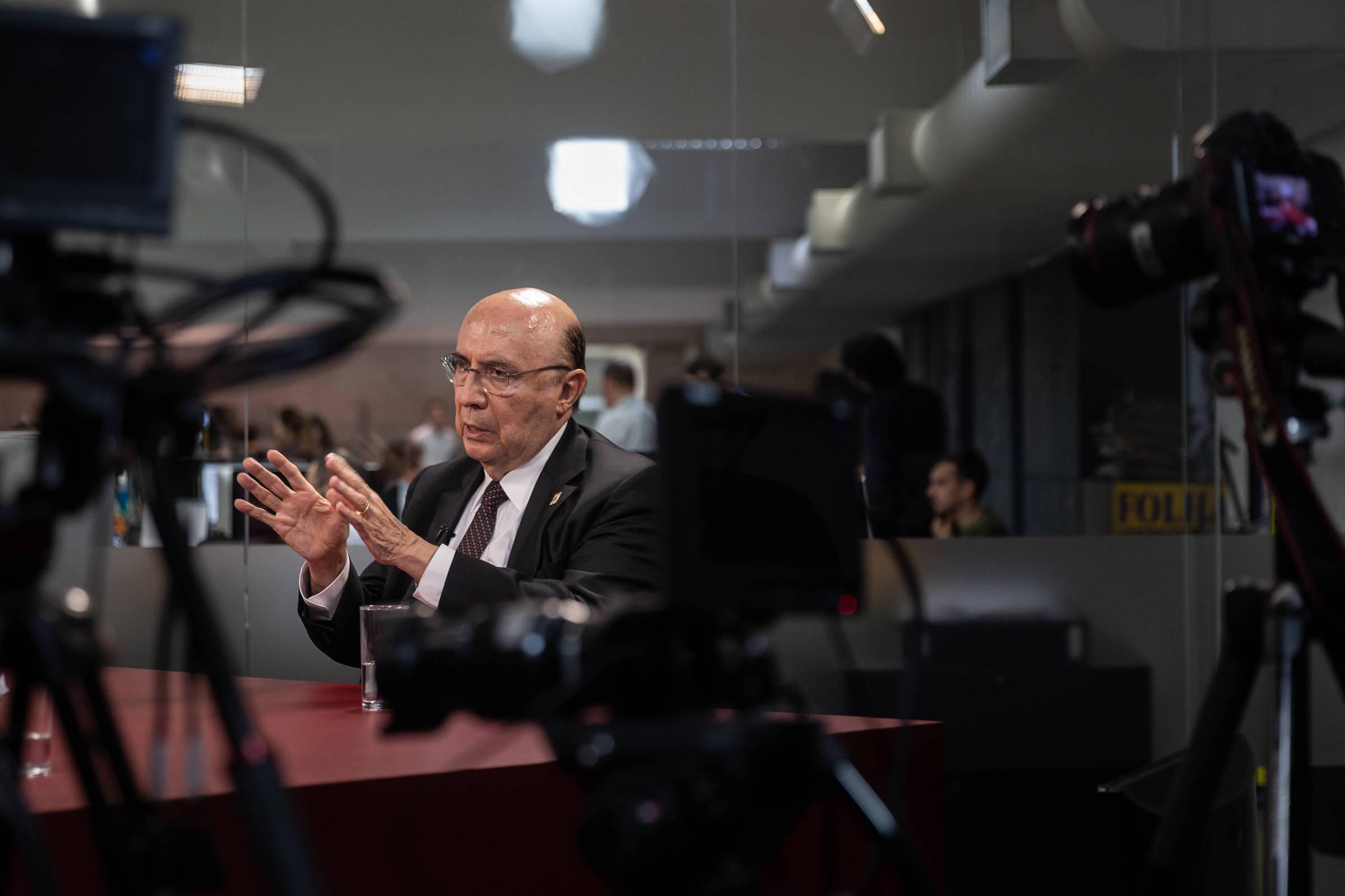 Entrevista com Henrique Meirelles na Redação da Folha