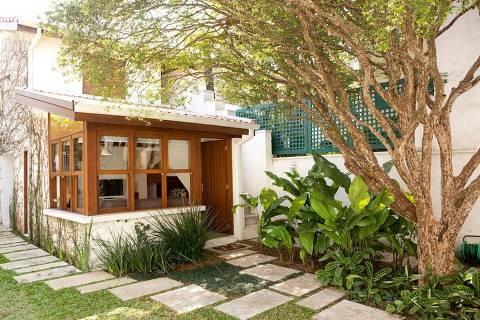 Edícula para temporada em São Paulo, alugada pelos proprietários desde 2016 para manter a casa sustentável