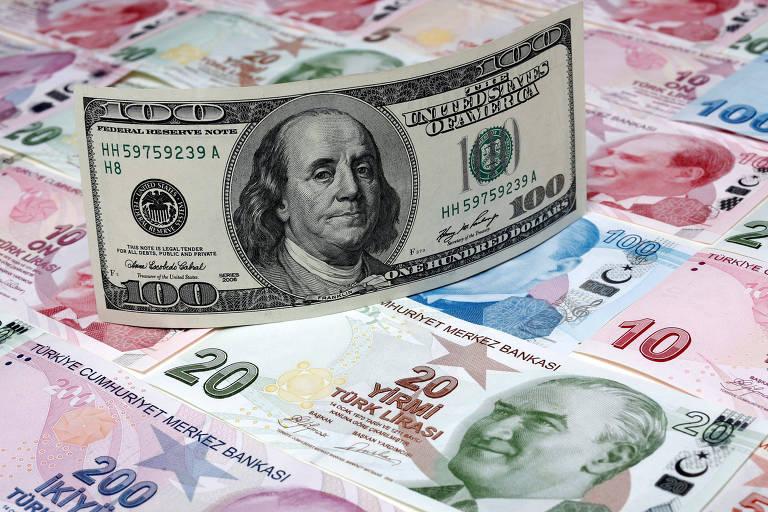 Moedas emergentes perdem força em relação ao dólar