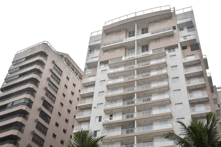 Edifício Solaris, em Guarujá (SP), onde está o apartamento tríplex atribuído a Lula