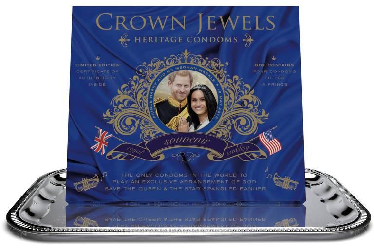 Caixa de Camisinhas Real da marca Crown Jewels