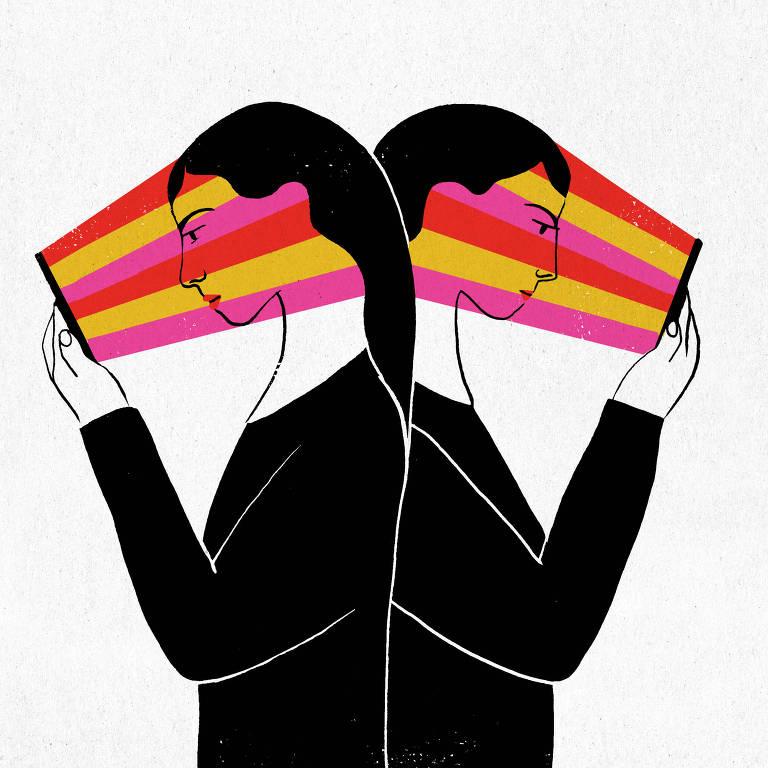 Ilustração mostra pessoas com os olhos grudados no celular