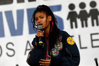 Singer Willow Smith speaks during