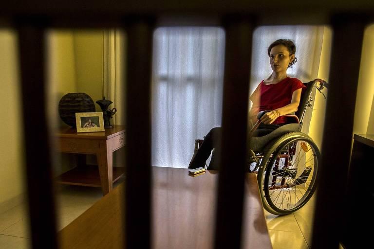 A sobrevivente de tentativa de suicídio Yohanna Gerotti, 22