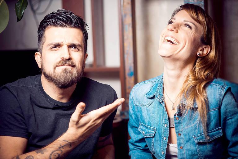 Léo Longo e Diana Boccara