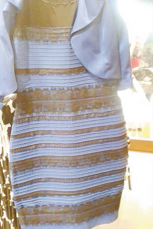 O vestido da discórdia: azul e preto ou branco e dourado?