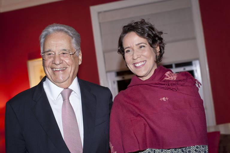 O ex-presidente Fernando Henrique Cardoso e sua mulher, Patrícia Kundrát