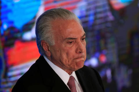 Brazil's President Michel Temer reacts during a ceremony celebrating two years in government, in Brasilia, Brazil May 15, 2018. REUTERS/Ueslei Marcelino ORG XMIT: UMS3