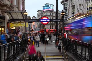 Picadilly Circus Underground station, London, UK
