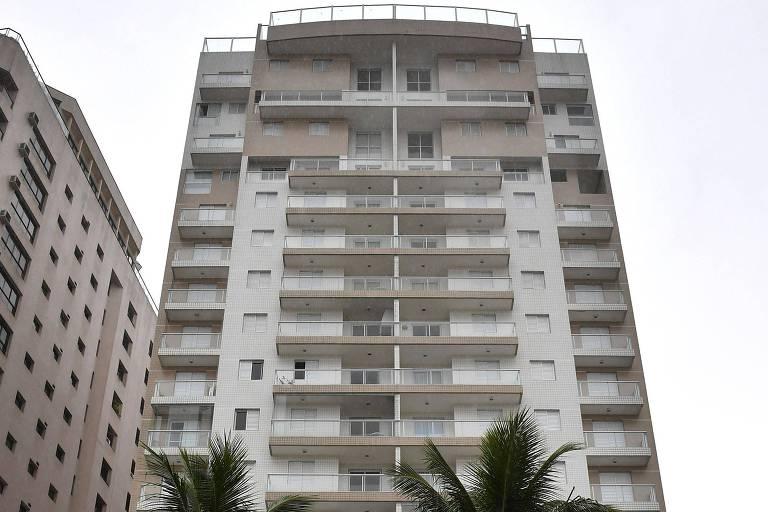 Fachada do edifício onde está o tríplex, que é atribuído ao ex-presidente Lula