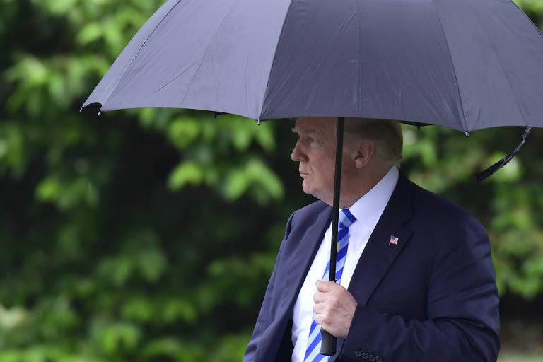 O presidente dos EUA, Donald Trump, em Washington