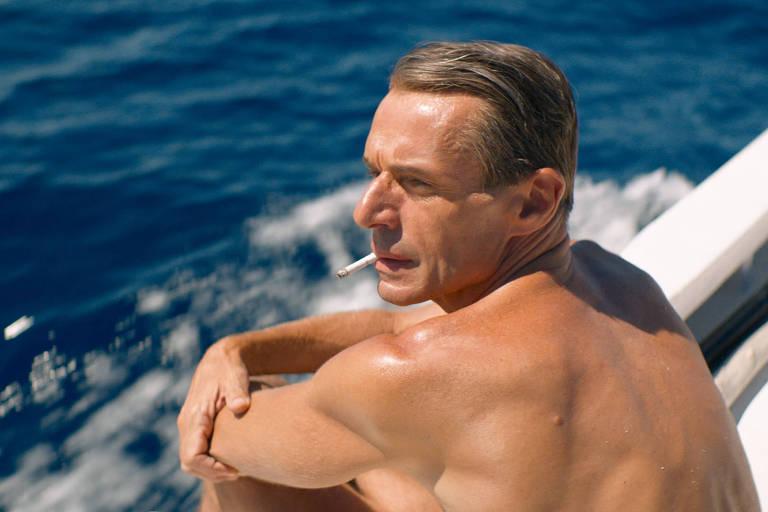 Ator Lambert Wilson como Jacques-Yves Cousteau em A Odisseia
